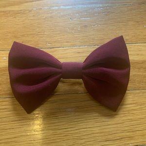 Forever 21 Burgundy Fabric Hair Bow